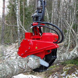 grapple saw excavator attachment