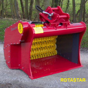 Rotastar screener excavator attachment